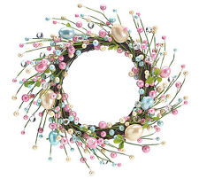Spring Easter Egg Pearlized Decorative Door Wreath Wall Hanging Decor Decoration