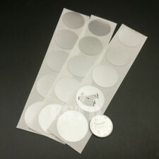 "New Arrival 100pcs Scratch Off Sticker 25mm * 25mm 1"" Round Glossy Silver Color"