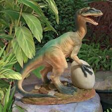 Mesozoic Raptor Dinosaur Predator Garden Sculpture