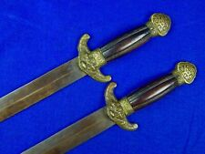 Chinese China Antique Old 19 Century Double Sword Set