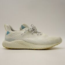Adidas Mens US 10 EU 44 Alphabounce Parley Running White Mesh Walking Shoes