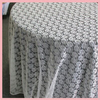 Table Round Floral Lace 108 inches Wedding Supplies Ivory