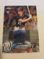 2018 Topps Chrome Andrew Stevenson Nationals RC Rookie Autograph RA-AS  Auto