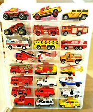 Fire Trucks/Chief, Rescue, Ambulance, Copters,with case. HW,Matchbox, RC, Maisto