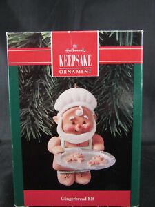 HALLMARK ORNAMENT - Gingerbread Elf (1990) - Elf with Cookies on Tray