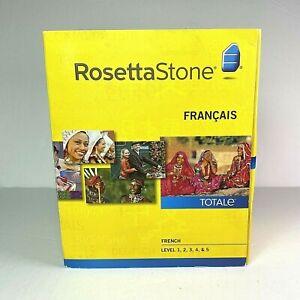Rosetta Stone V4 TOTALe: French Level 1-5 Set for PC Mac EUC Version 4