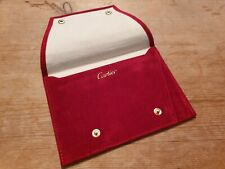Genuine Cartier Red Velvet Watch /Jewellery Storage Travel Pouch *Mint Condition