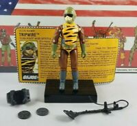 Original 1988 GI JOE TRIPWIRE V3 Tiger Force UNBROKEN figure ARAH not COMPLETE