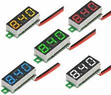 5pcs 25v 30v 028inch Two Wire Mini Digital Dc Voltmeter Tester Meter 5 Colours