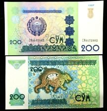 UZBEKISTAN 200 SUM 1997 Banknote World Paper Money UNC Currency Bill Note
