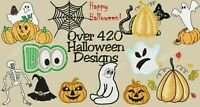 Machine Embroidery Designs - OVER 420 HALLOWEEN DESIGNS - Multiple formats