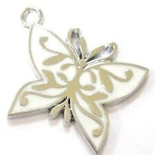 5 Pcs 22x30mm Butterfly Zinc Alloy Enamel Charm Pendants - A0296
