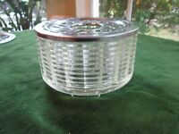 Vintage Mid Century Silex Candle Warmer Glass Stainless Steel Coffee Tea Carafe