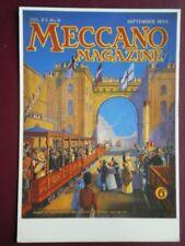 POSTCARD  ADVERT  MECCANO MAGAZINE COVER SEPTEMBER 1930