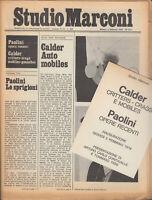 Studio Marconi Notiziario Febbraio 1976 n.3/4  Calder Giulio Paolini Trini ill.
