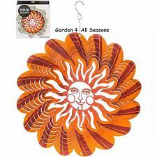 "12""/30cm sunburst en acier inoxydable vent spinner sun catcher crochet jardin cadeau pack"