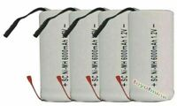 4x Sub C SubC With Tab 6000mAh 1.2V Ni-MH Rechargeable Battery White High Power