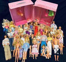Huge Lot Of Vintage Barbies With Case (mostly 1980's)