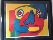 Karel Appel Rare Vintage 1960s Framed Original Signed & Numbered Litho Art Print