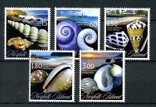 Norfolk Island 2011 MNH Seashells 5v Set Shells Beaches Marine Stamps