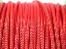 3mm x 5m RED Expandable Braided PET Cable Sleeving High Density PC RC Modding