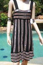1dbfff747cdc M Missoni Black pink beige ematite dress I 38 US 2 4 6 $1525 striped