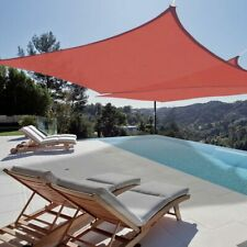 2pc 18x18' Square Sun Shade Sail Canopy Top 6D Lower Outdoor Patio Red Cover