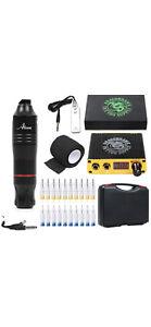 Dragonhawk Cartridge Tattoo Machine Kit Pen Rotary Needles 10137 Low Noise Atom