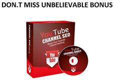 YouTube Channel SEO Video Course - see unbelievable bonus