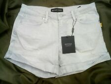 DESIGNER BETTINA LIANO / DENIM BLEACHED SHORTS / PATCH  CASUAL JEANS / SIZE 14