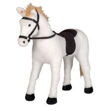 HAPPY PEOPLE 58476 Schimmel Pferd Spielpferd mit Sound Reittier Spiel-Pferd