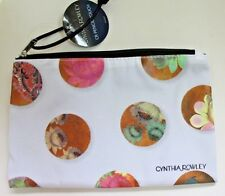 Cynthia Rowley Celestial Dot Pencil Accessory Pouch Bag Case White