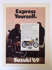 1969 Suzuki Ts-500 Ii Titan Motorcycle Vintage Original Print