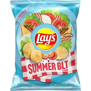 Lay's SUMMER BLT Limited Summer Flavor 7.75 Oz Bacony Goodness