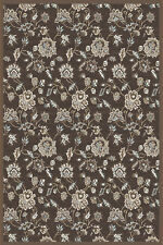 """5x5 Radici Brown Floral Vines Leaves Area Rug Round 3475 - Aprx 5' 3"""" x 5' 3"""""""