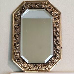 Antique Beveled Framed Decorative Mirror ART 13x19 Inch Octagonal Frame
