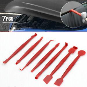 Car Vinyl Sticker Decal Film Squeegee Kit Red Wrap Tools Scraper Accessories 7pc