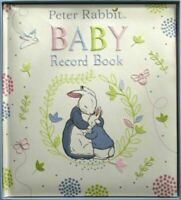 ORIGINAL PETER RABBIT EMBROIDERED BABY RECORD BOOK GREAT GIFT BEATRIX POTTER