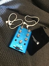 PokketMixer Teal Dj Mixer with Cables & Pouch, portable mixer for 2 sources.