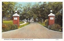 Sioux City Iowa~Morningside College~Class of 1917 Entrance Pillars~1920 Postcard