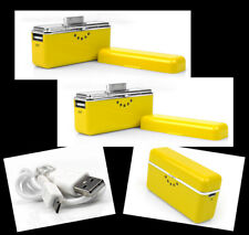2 2800MAH PORTABLE EXTERNAL YELLOW BATTERY CHARGER USB IPHONE 4S 4 3GS IPOD NANO
