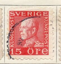 Sweden 1920-25 Early Issue Fine Used 15ore.  118393