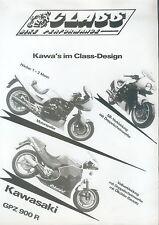 Kawasaki GPZ 900 R 1100 ZX10 Class Prospekt 1986 Motorrad Broschüre prospectus