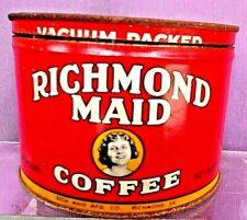RICHMOND MAID COFFEE TIN  w/CORRECT LID