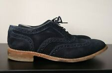 Mens Loake Blue Suede Brogues Shoes - UK 9