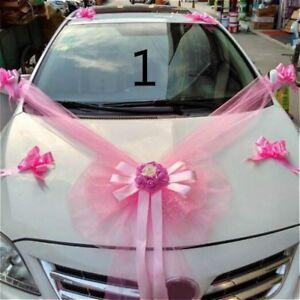 Cars Wedding Decor Kit Organza Flower Ball Ribbon Bows Garland Wrap Novelty New