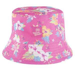 UBBAG37-02PK Urban Beach Ladies or Girls Reversable Bucket Sun Hat MRP£9.99 55cm