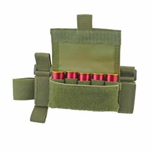 Tactical 5 Round Shell Shotgun Buttstock Carrier Shell Holder Ammo Pouch 3 Color