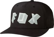 Fox Racing extruido Gorra Flexfit Talla L/XL NEGRO rápido y Free UK Post