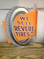VINTAGE 30'S STYLE REVERE TIRES SERVICE STATION DISPLAY SIGN GREAT COLORS